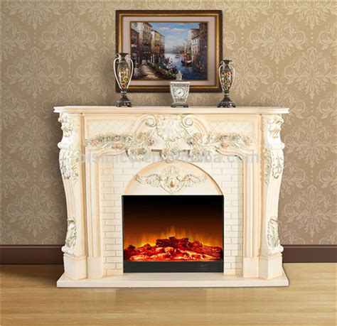 european royal electric fireplace  floral design