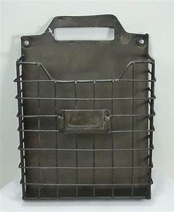 Rustic style metal wire basket wall pocket organizer for Metal letter organizer