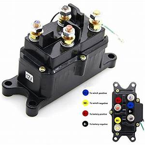 12v 250a Winch Solenoid Relay Contactor Thumb Truck For