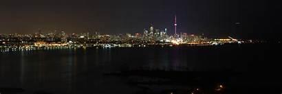 Dual Monitor Toronto Skyline Panoramic Desktop Screen