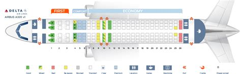 Best Seats Airbus A320 Seat Map Airbus A320 200 Delta Airlines Best Seats In Plane