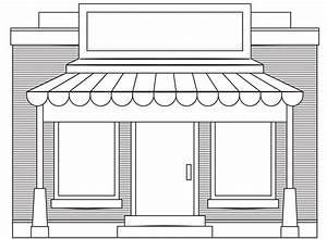 clipartist.net » Clip Art » store fronts shop 4 black ...