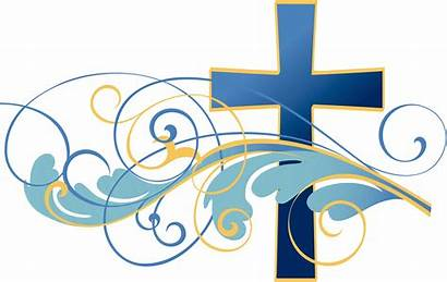 Clip Christian Clipart Cross Religious Easter Bible