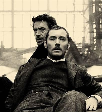 Sherlock Holmes Watson Jude Law Robert Downey