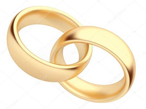 Hochzeit Gold Ring 3d. Isoliert. Symbol Der Liebe