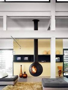 Hanging Stove – Modern Luxury Fireplaces Interior Design