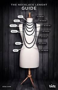 Necklace Lengh Guide  Infographic  Infograf U00eda