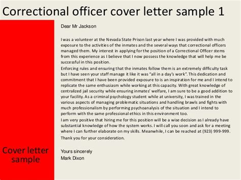 Cover Letter For Correctional Officer by Correctional Officer Cover Letter