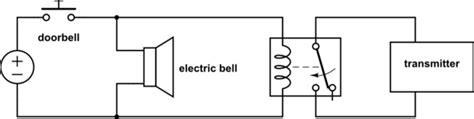relay trigger wireless door bell by electrical doorbell electrical engineering stack exchange