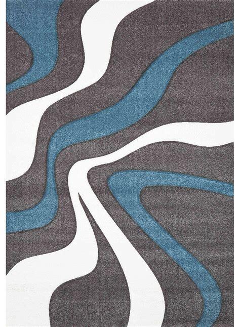 tapis bleu  blanc idees de decoration interieure