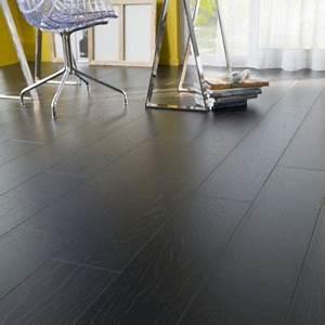 Parquet Stratifié Noir : revetement parquet gris fonce marbre noir accueil design ~ Edinachiropracticcenter.com Idées de Décoration