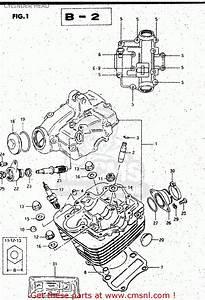 Suzuki Gs125 1982  Z  Cylinder Head