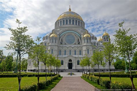 Kronstadt Naval Cathedral In St Petersburg · Russia