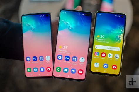samsung s s10e joins galaxy s10 s10 plus 2019 smartphone lineup digital trends