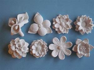 White Flower Bloom Wall Hanging, Your Choice - ceramic ...