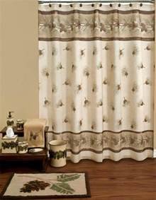 Pine Cone Shower Curtain by New Saturday Knight Bathroom Fabric Shower Curtain Rustic