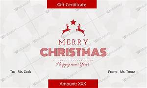 30  Christmas Gift Certificate Templates