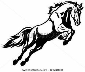 rearing horse logo   horse rearing mustang black and ...