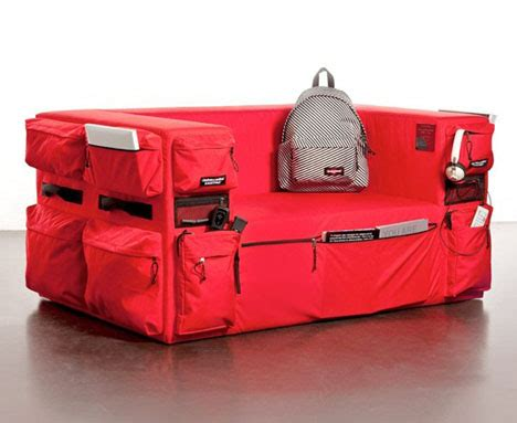 the couch as storage object quinze milan s eastpak sofa