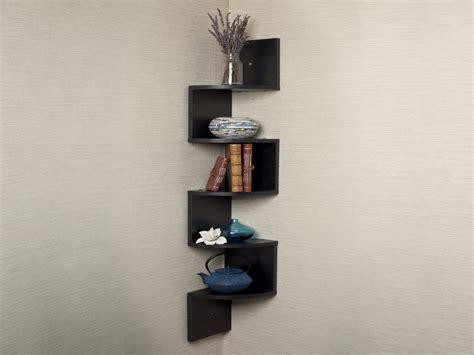 wooden  glass corner rack small wood corner shelf