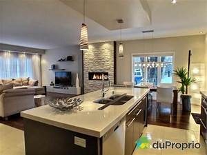 17 meilleures idees a propos de cheminees a gaz sur With attractive plan de maison moderne 10 deco salon et cuisine ouverte