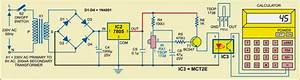 Infrared Object Counter Circuit Diagram