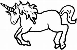 Unicorn Clipart Black And White | www.pixshark.com ...