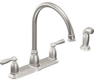 shop houzz moen inc moen banbury handle kitchen faucet with matching side sprayer