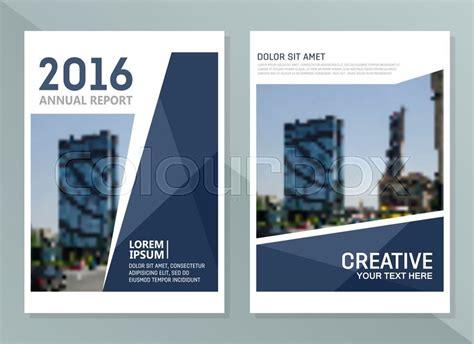 vector annual report design templates business brochure