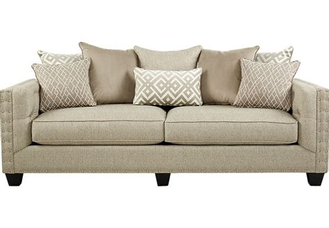 Cindy Crawford Home Chelsea Hills Beige Sofa