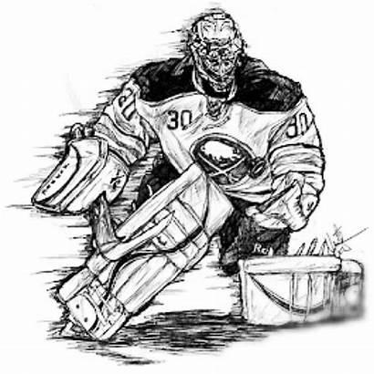 Hockey Goalie Clipart Sketch Ryan Miller Pen