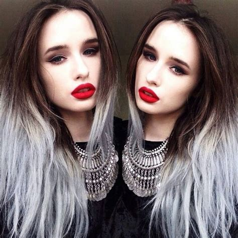Grey Dip Dyed Ends Fancy Hair And Junk Pinterest