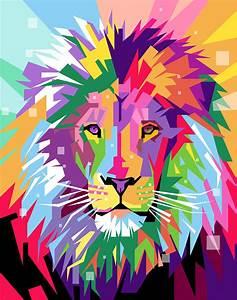 Lion Pop Art Digital Art by Ahmad Nusyirwan