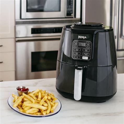 fryer ninja air quart walmart af101 basket kitchen gadgets ceramic 4qt recipes 1550 watt coated amazon xl rack redcard gray