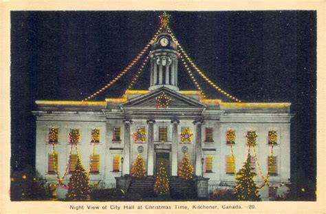 Kitchener City Hall Decorated for Christmas: Waterloo