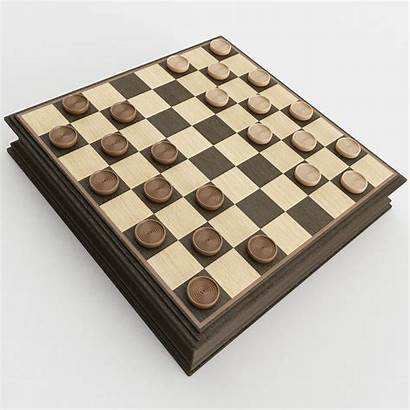 Checkers Sports Kontrolleur Spiel Models Cgtrader
