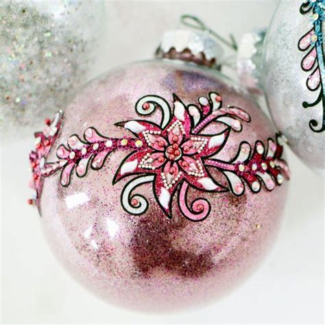 christmas ball art and craft 23 best images about flower on blue glass