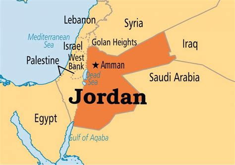 Jordan Country Map Jordan Map Location Western Asia Asia
