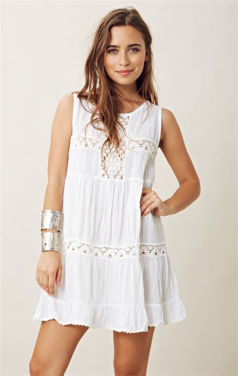 babydoll dress jen 39 s pirate happy babydoll dress in white lyst