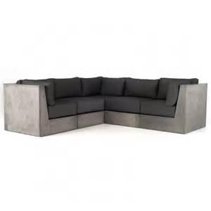 Armani Sofas by Modrest Indigo Contemporary Grey Concrete Sectional Sofa
