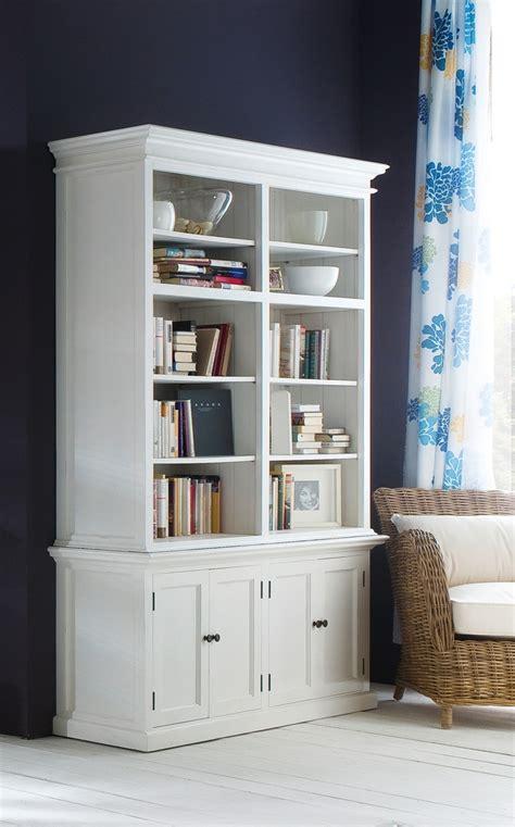 Halifax Medium Hutch Bookcase White
