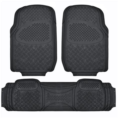 floor mats for suv floor mat for 3 row car all weather black trimmable