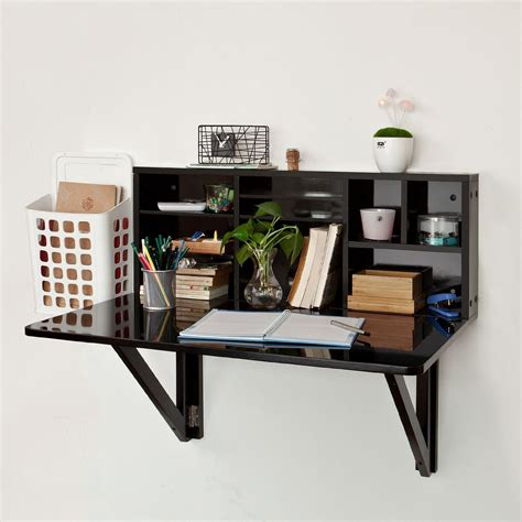 black desk with shelves furniture black wood wall mounted fold up desk with