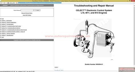 N14 Cummin Engine Diagram by Cummins Celect Electronic System Troubleshooting