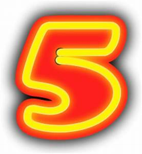 neon numeral light background 5 signs symbol alphabets