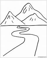 Road Pages Mountain Coloring Foot Print sketch template