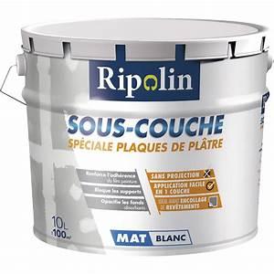 sous couche plaque de platre ripolin 10 l leroy merlin With peinture sous couche placo
