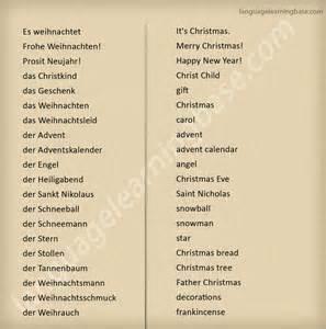 German Christmas Words