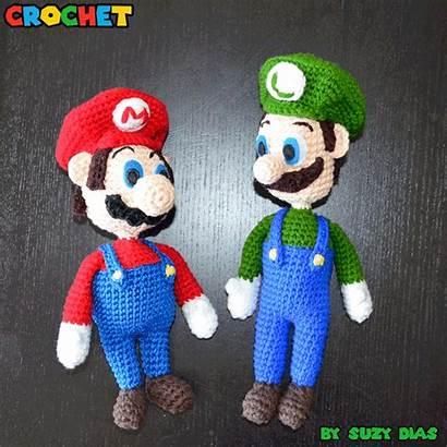 Mario Luigi Crochet Super Suzy Dias Animated