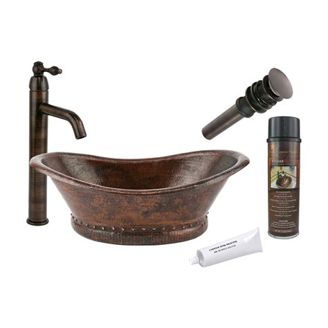 rubbed bronze kitchen sink faucet shop premier copper products rubbed bronze copper